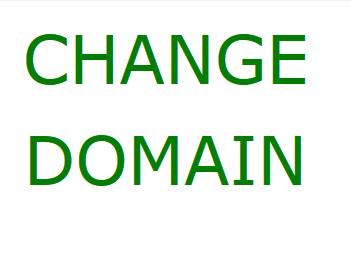 روش تغییر دامنه سایت